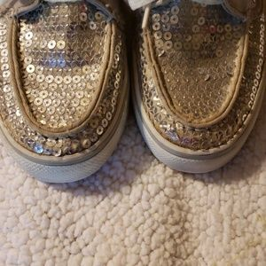 Sperry Shoes - Used silver sequin sperry top sliders